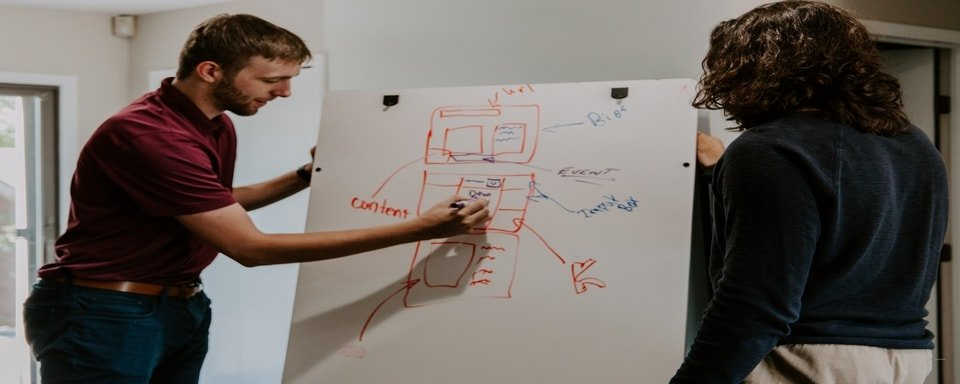 Image of someone writing on a whiteboard